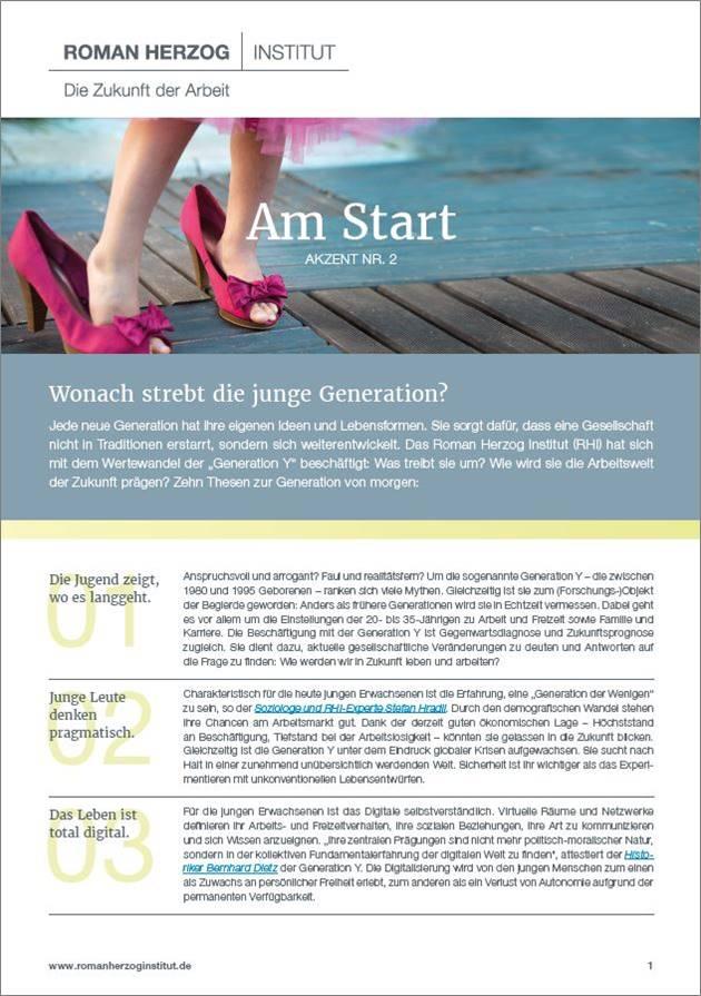 Wonach strebt die junge Generation?