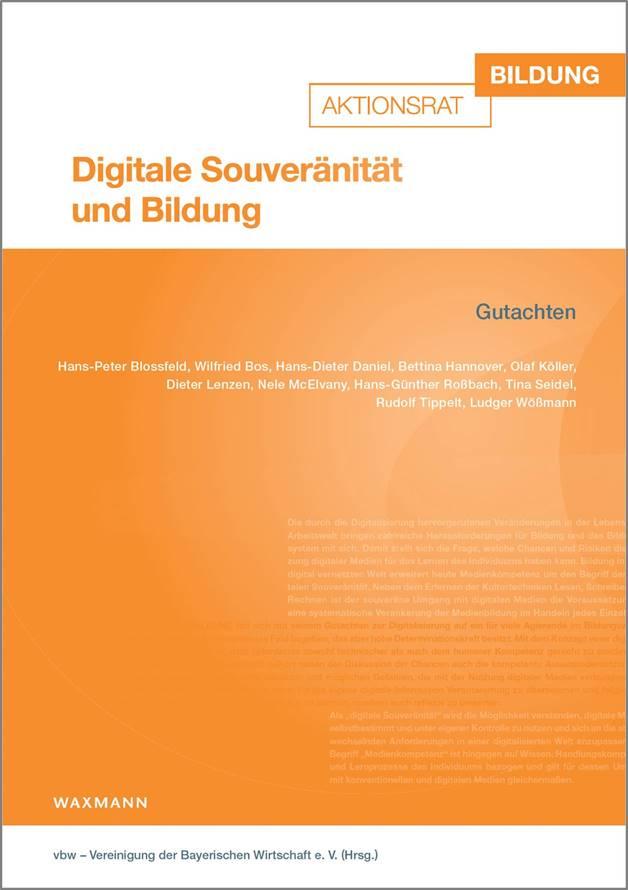 """Gutachten """"Digitale Souveränität und Bildung"""" erschienen"""