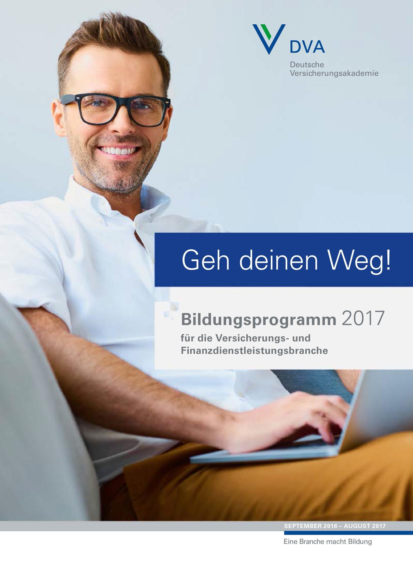 Bildungsprogramm 2017 - Mit über 300 Angeboten die bisher umfangreichste Auflage